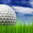 Golf ball at horizon — Stock Photo #70373443