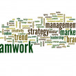 Teamwork and success word cloud — Stock Photo #70373821
