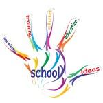 Education hand print  word cloud — Stock Photo #70374663
