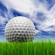 Golf ball at horizon — Stock Photo #70374699