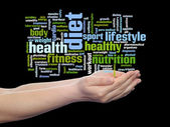 Health, nutrition  word cloud — Stock Photo