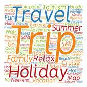 Tourism word cloud — Stock Photo