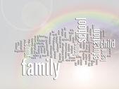 образовательное облако слова резюме — Стоковое фото
