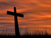 Religion symbol silhouette — Stock Photo
