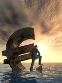 Euro simbolo valuta concettuale — Foto Stock