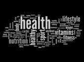 Abstract health word cloud — Stock Photo