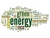 Energy ecology  word cloud — Stock Photo