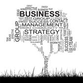 Business text word cloud — Stock Photo