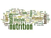 Nutrition word cloud — Stock Photo