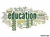 Education word cloud — Stock Vector