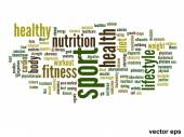 Health word cloud — Stock Vector
