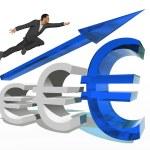Conceptual  businessman jumping — Stock Photo #70911373