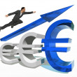 Conceptual businessman jumping — Stock Photo #70911373