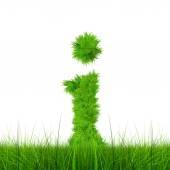 Groen gras lettertype — Stockfoto