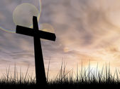 Conceptual black cross — 图库照片