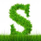 Green grass font — Stock Photo
