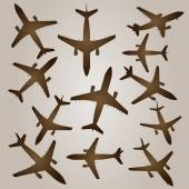 A set of brown planes — Stock Photo