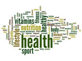Health word cloud — Stock Photo