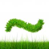 Green grass font — Stock Photo