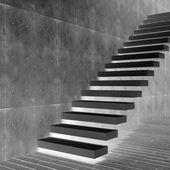 概念の黒い石の階段 — ストック写真