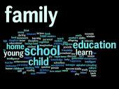 Education abstract word cloud — Foto de Stock