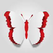 Conceptual white paper  butterfly — Stock Photo