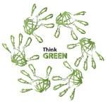 Ecology hand print symbol — Stock Photo #71478047