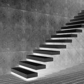 Conceptual black stone  stair — Stockfoto