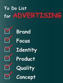 Advertising chalk text blackboard — Stock Photo