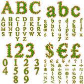Green grass fonts — Stock Photo