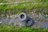 Unhygienic polluted river — Stock Photo