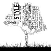 Art tree  word cloud — Stock Photo