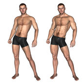 Conceptual  strong young male — Stock Photo