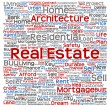 Real estate or housing word cloud — Stock Photo #72608265