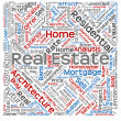 Real estate or housing word cloud — Stock Photo #72608447