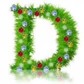 Holiday green fir tree font — Stock Photo