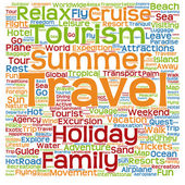 Tourism word cloud — Stock Photo