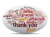 Conceptual thank you word cloud — Stock Photo