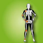 Man  anatomy with pain — Stock Photo