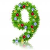 Conceptual Christmas  fir tree font — Stock Photo