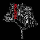 Perception word cloud — Stock Photo