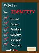 Identity chalk text blackboard — Stock Photo