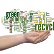Abstract green ecology recycle word cloud — Stock Photo #74382975