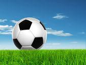 Conceptual 3D soccer ball — Stock Photo
