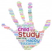 Child education abstract hand print — Stock Photo