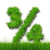 Ecology symbol font — Stock Photo