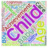 Child education abstract word cloud — Stock Photo
