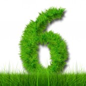 Conceptual green grass ecology font — Stock Photo