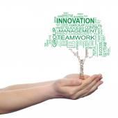 Business green text word cloud — Fotografia Stock