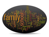 Family education abstract word cloud — Stock Photo